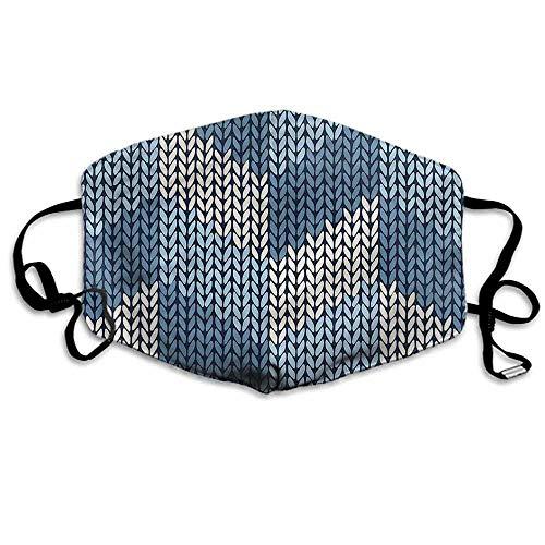 (Blue Fashion Mouth Mask Nordic Scandinavian Retro for Cycling Camping Travel W4