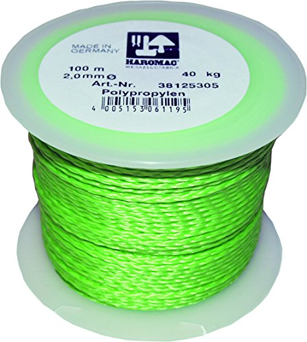 Haromac Maurerschnur grün, 2mmx100m, PP, fluoriszierend, 38125305