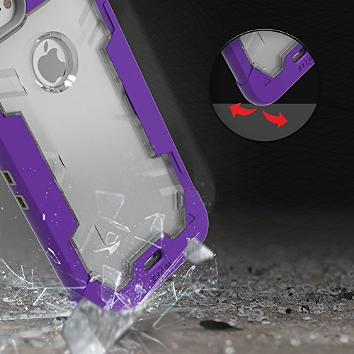 iPhone 8 Case / iPhone 7 Case Zizo Proton Cover [Military Grade Drop Tested] w/ 0.3m 9H [Tempered Glass Screen Protector] Kickstand Holster Belt Clip