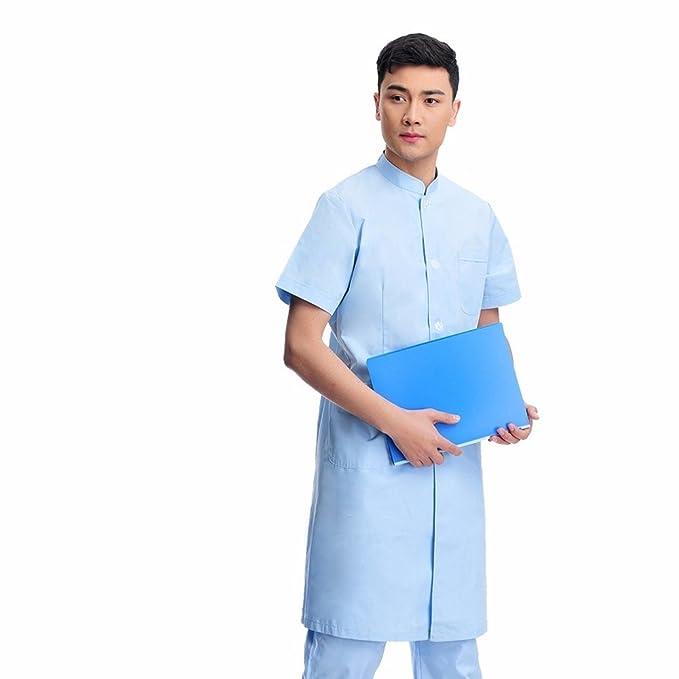 Xuanku Doctor Desgaste Vestido De Manga Corta Clínica Dental Collar Chino De La Medicina Tradicional China Batas Blancas De Ropa De Trabajo: Amazon.es: Ropa ...