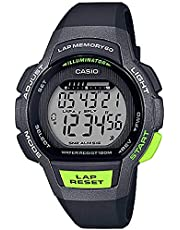 Casio LWS-1000H-1AVDF Rubber Round Digital Water Resistant Watch for Kids - Black and Green
