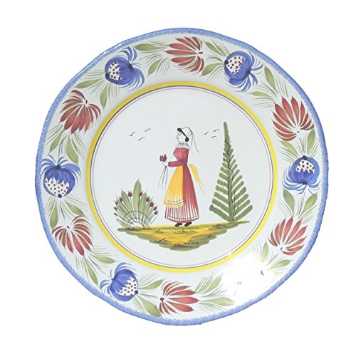 Quimper Dinner Plate Woman - Decor Tradition