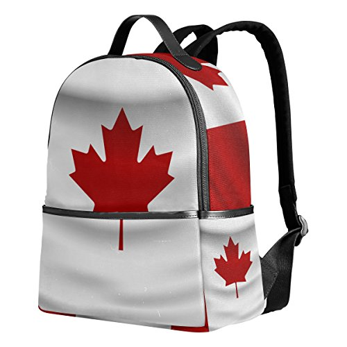 Canada Flag Unisex Rucksack Canvas Satchel Casual Daypack,School College Student Backpack (Canada Drawstring Bag)