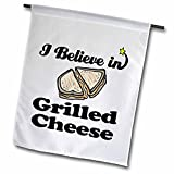 Cheap 3dRose Dooni Designs I Believe In Designs – I Believe In Grilled Cheese – 18 x 27 inch Garden Flag (fl_105192_2)