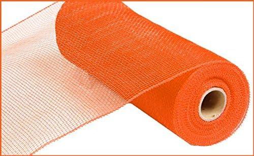 Craig Bachman 10 Inch x 30 Feet Deco Poly Mesh Ribbon RE1332H3 Metallic Stripe Red White Blue