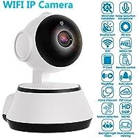 Homdox Home Camera Wireless 720P IP Security Surveillance System with IR Night Vision WiFi Webcam, US Plug, White