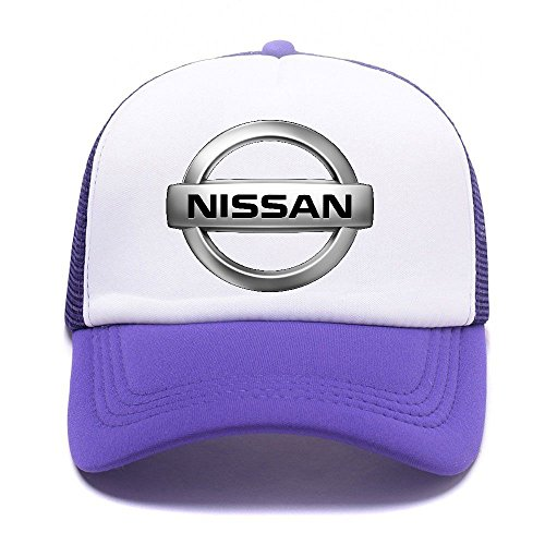 Baseball D66KA2 Car Logo Girl de for Gorras Hat Purple Women Béisbol Men Niss Trucker Caps Boy dEXwXq