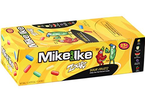 Mike and Ike Zours .78 oz Pouches - 24 (Blue Mike And Ikes)