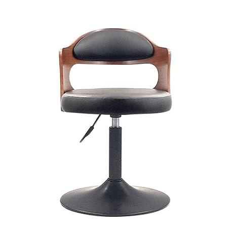 Super Amazon Com Metallic Wooden Retro Bar Chair Adjustable Machost Co Dining Chair Design Ideas Machostcouk