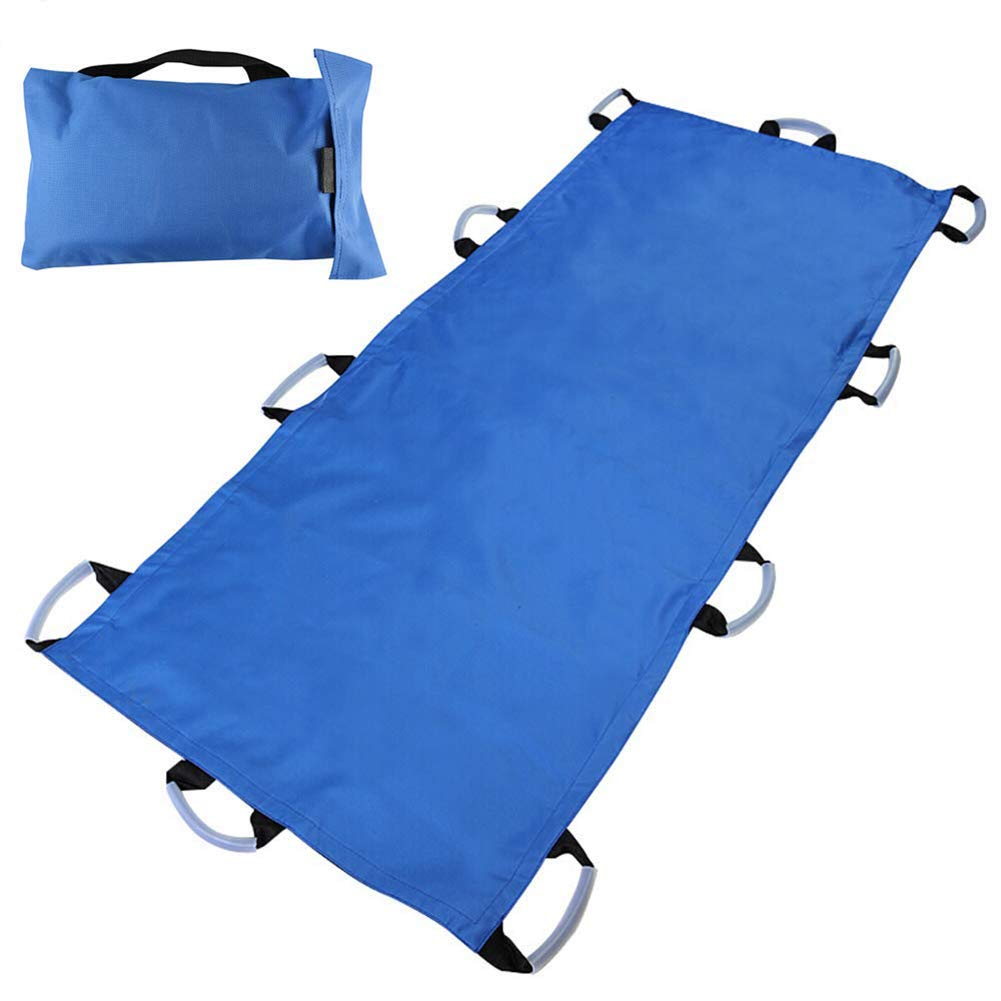 Oxford Soft Stretcher, Waterproof Foldable/Emergency Rescue Back Stretcher with Bags/Rescue Litter/Patient Transfer System/Portable Transport Unit by SHKY