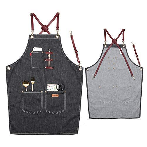 VANTOO Cotton Apron Men Women-Tool Work Apron