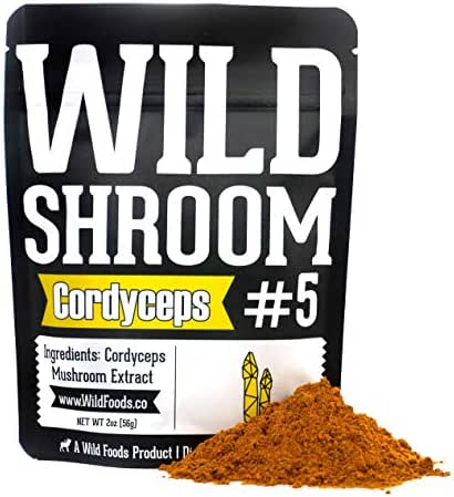 Cordyceps Mushroom Extract Powder 10:1 by Wild Foods | Cultivated Mycelium, Triple Hot Water Extract Adaptogenic Nootropic Herb for Focus, Memory and Health (2 Ounce)