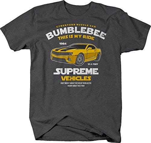 - M22 Bumblebee Chevy Camaro Transformer Cybertorn Muscle Car Tshirt - Large