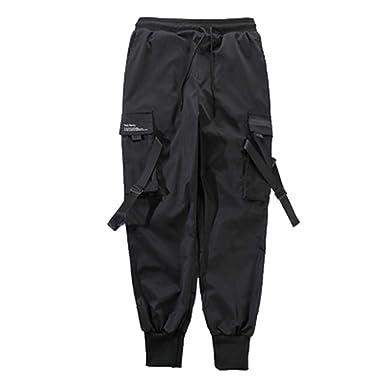 ESTZFCGPTS Pantalones multibolsillo para Hombres Pantalones de ...