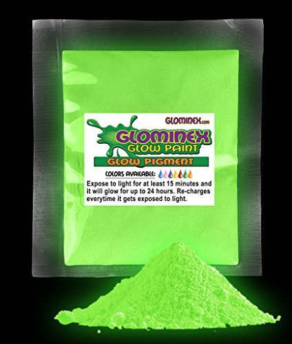 Glominex Glow in the Dark Pigment 1 oz - Green - AD237