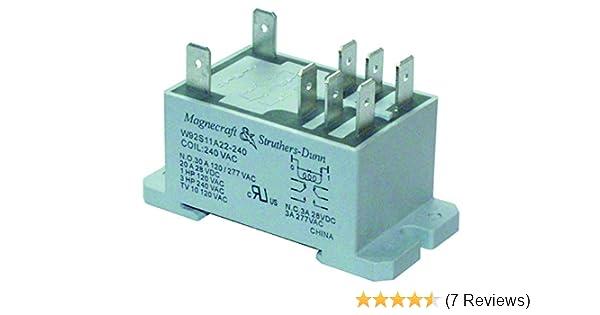 SCHNEIDER ELCTRIC/MAGNECRAFT 92S11A22D-120 POWER RELAY, DPDT, 120VAC, on