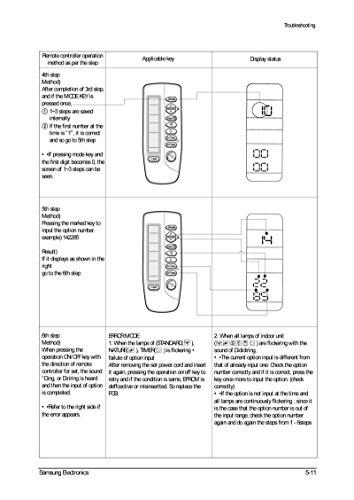 samsung air conditioner remote control manual
