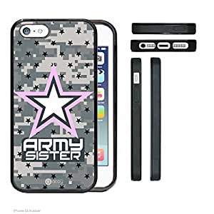 Army Camo SISTER iPhone 5 5s Rubber Silicone TPU Cell Phone Case