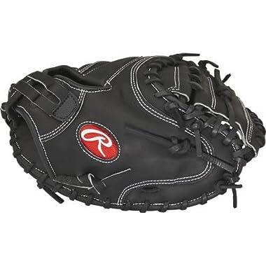 Rawlings Sporting Goods Heart of the Hide Dual Core Softball 34 Catchers Mitt PROCM34SBB, black