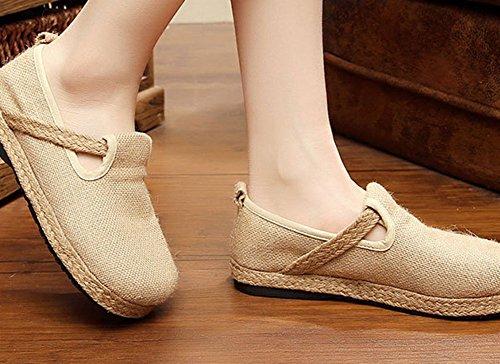 Zapatos Transpirable simpl Cómodo Mujer de de y Casual Compras Verano de Beige Calzado Viaje Diseño 14vBZ4d