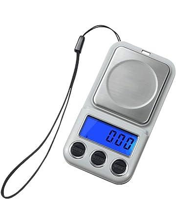 BESTONZON Báscula Digital electrónica Mini Bolsillo Báscula de joyería Escala de Alimentos Escala de Laboratorio de