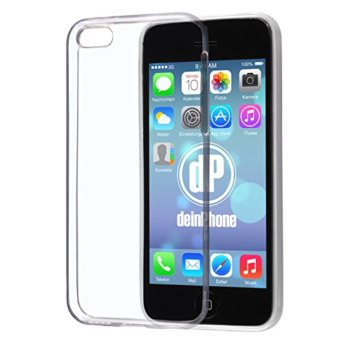 deinPhone iPhone 5C Silikon Case Hülle Ultra Slim 0,3mm Transparent Clear