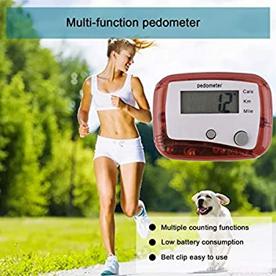 Belt Clip LCD Pedometer Step Walking Jogging Running Hiking Distance Fitness