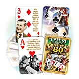 1980's Movie Trivia Playing Cards: 30th Birthday or Anniversary