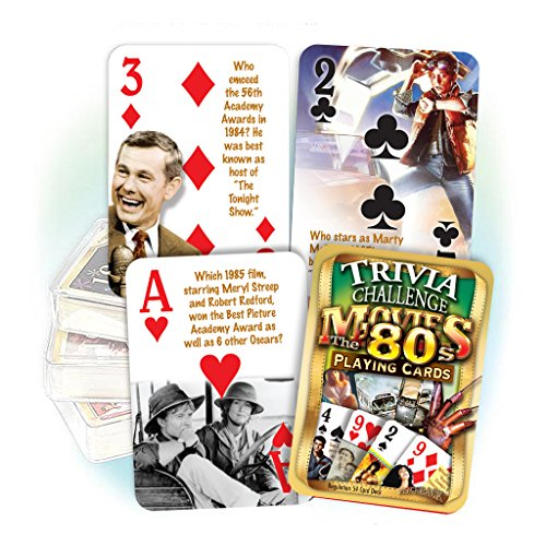 1980's Movie Trivia Playing Cards: 30th Birthday or Anniversary by Flickback Media, Inc.