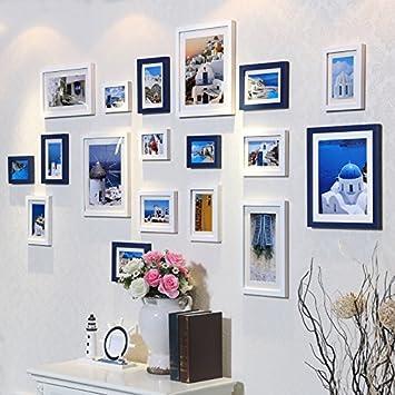 Bilderrahmen*18 Kasten aus massivem Holz Foto an der Wand im ...