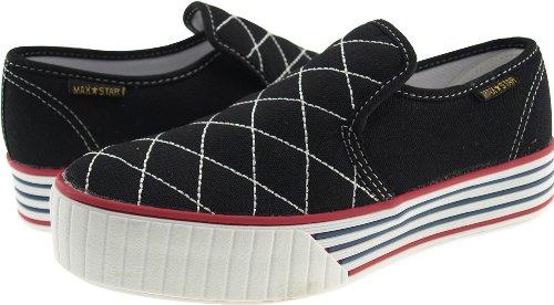 Maxstar  C30-Stitch,  Damen Sneaker Low-Tops Schwarz