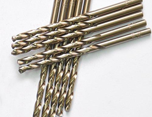 """10 Pcs Pack 1/8"""" Inch M35 HSS Cobalt Drill Bit Jobber Length"""