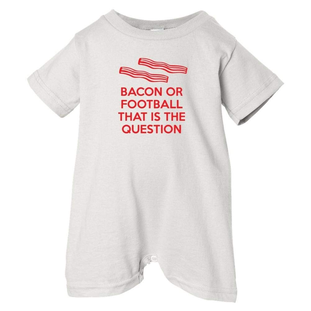 Mashed Clothing Unisex Baby Bacon Or Football Is The Question T-Shirt Romper