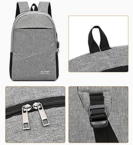 JD/_W Laptop Backpack 15.6 Travel Backpack Business Backpack with Reflective Strip Water Resistant