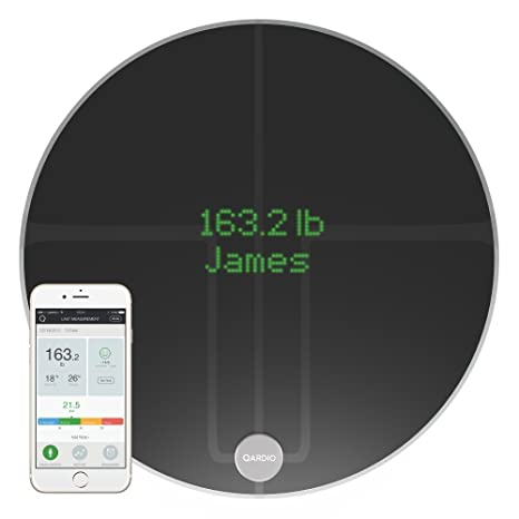 Qardio Base2 Wi Fi Smart Scale And Body Analyzer: Monitor Weight, Bmi And Body Composition, Easily Store, Track And Share Data. Free App For I Os, Android,... by Qardio