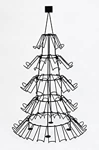60 Bottle Christmas Tree Holiday Beverage Wine Rack