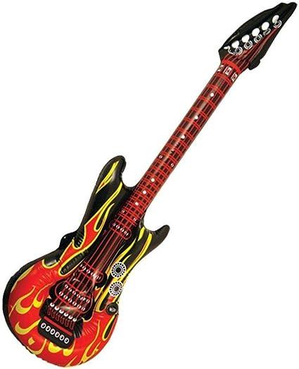 Bristol Novelty - Guitarra hinchable (103 cm), diseño de llamas