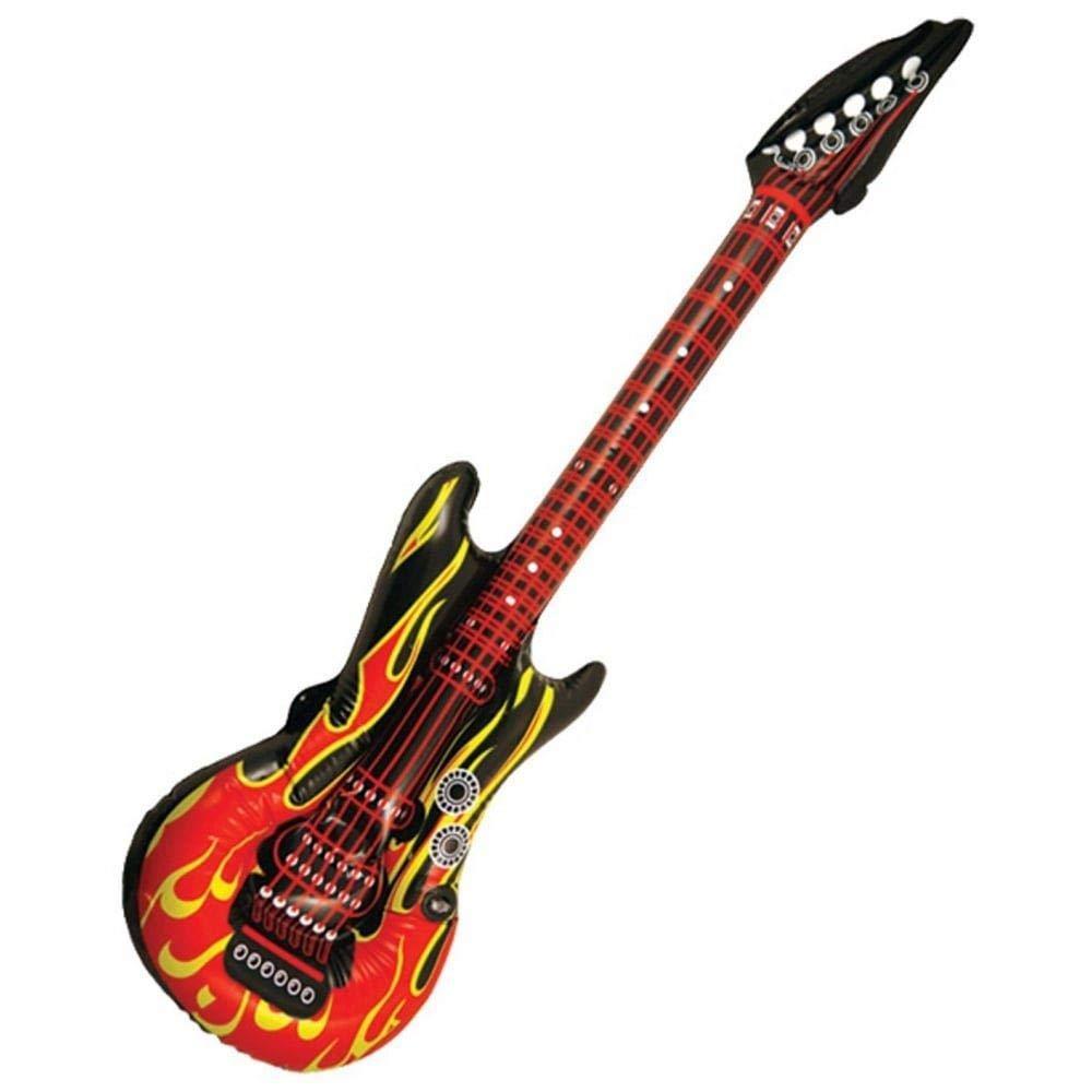 Bristol Novelty - Guitarra hinchable (103 cm), diseño de llamas ...