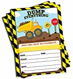 Construction Invitations and Envelopes (Large Size 5x7) (25 pack)