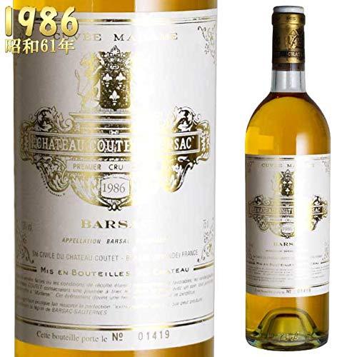 シャトークーテ キュヴェマダム 750ml 1986 ソーテルヌ 750ml 貴腐ワイン ソーテルヌ 格別1級 格別1級 B07LCJDTRL, 増高電機株式会社:371e6eb4 --- cooleycoastrun.com