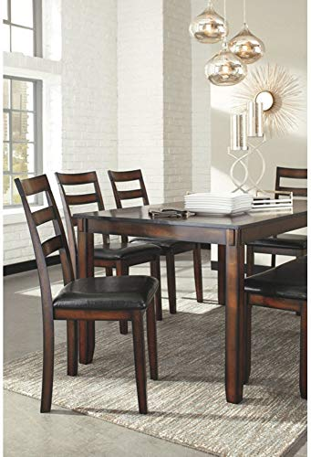 home & kitchen, furniture, kitchen & dining room furniture,  table & chair sets  discount, Ashley Furniture Signature Design » Coviar Dining Room Table and Chairs with Bench (Set of 6) » Brown deals5
