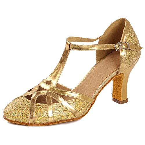 Image of Roymall Women's Fashion Ballroom Party Glitter Latin Dance Shoes Model CMJ-511