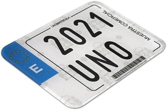 Matricula acrílica de moto Enduro homologada de alto impacto: Amazon.es: Electrónica