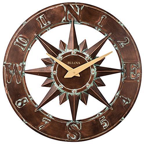Bulova Nor'Easter C4873 Nor'Easter Indoor/Outdoor Wall Clock, - Outdoor Bronze Clock