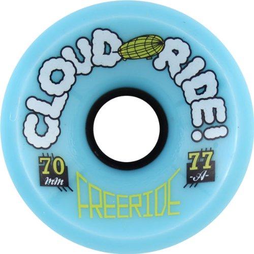 算術熱心な豚Cloud Ride Wheels Freeride White Skateboard Wheels - 70mm 77a (Set of 4) by Cloud Ride Wheels
