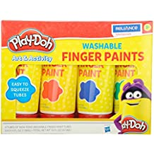 Play-Doh Washable Finger Paint Tubes (4 Pack)