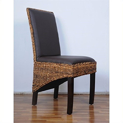 International Caravan SG-3331-1CH-IC Furniture Piece Salma Abaca Dining Chair by International Caravan