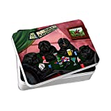 Home of Affenpinschers 4 Dogs Playing Poker Photo Storage Tin