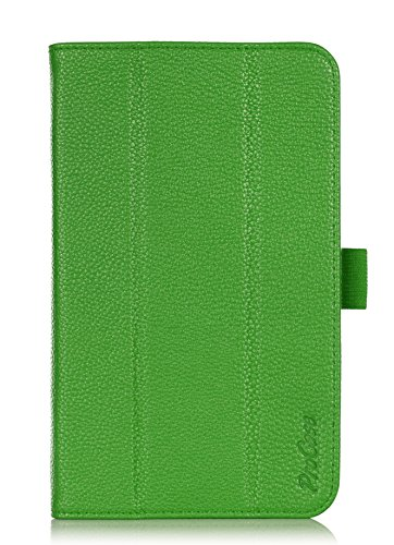 ProCase ASUS MeMO Pad 7 (ME176CX, ME176C) Tablet Case with bonus stylus pen - Tri-Fold Book Cover Case exclusive for 2014 ASUS MeMO Pad 7 inch (ME176CX) with Hand Strap, auto Sleep/Wake (Green)