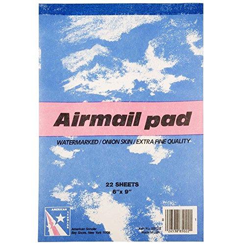"JAM Paper Airmail Paper Pads - 6"" x 9"" - Onion Skin - 22 sheets per pad"